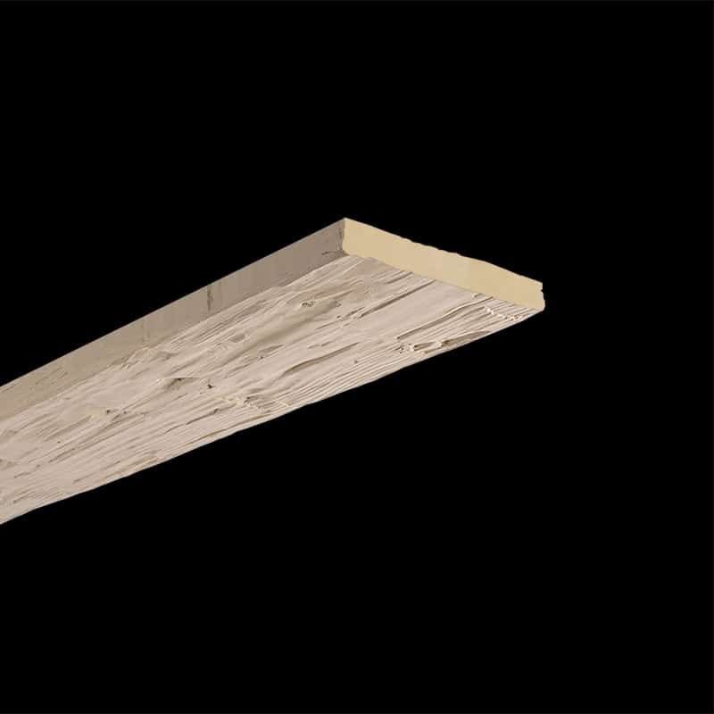 Faux Wood Ceiling Plank - Hand Hewn - Primed (2b)