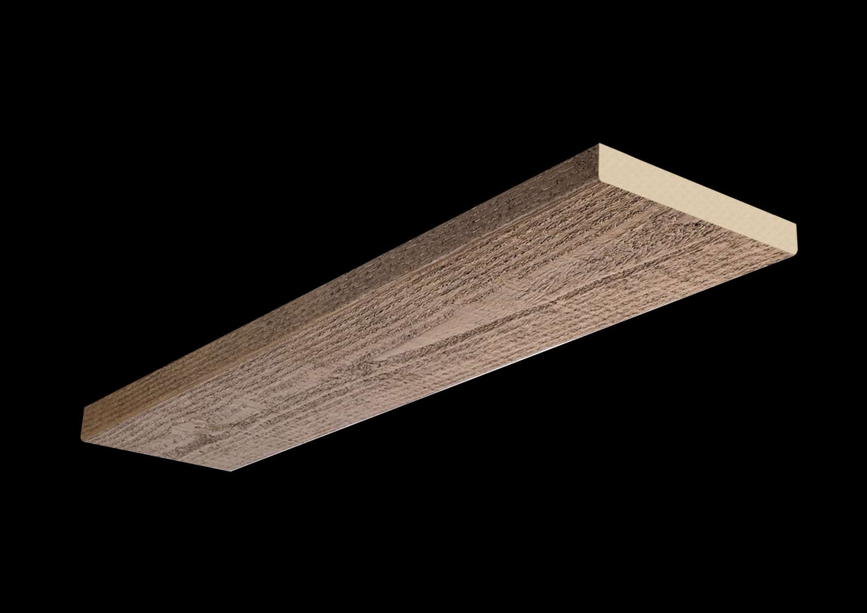 Faux Wood Ceiling Plank - Rough Sawn - Light Walnut (1b)