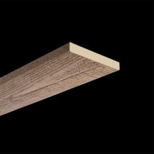 Faux Wood Ceiling Plank - Rough Sawn - Light Walnut (2b)