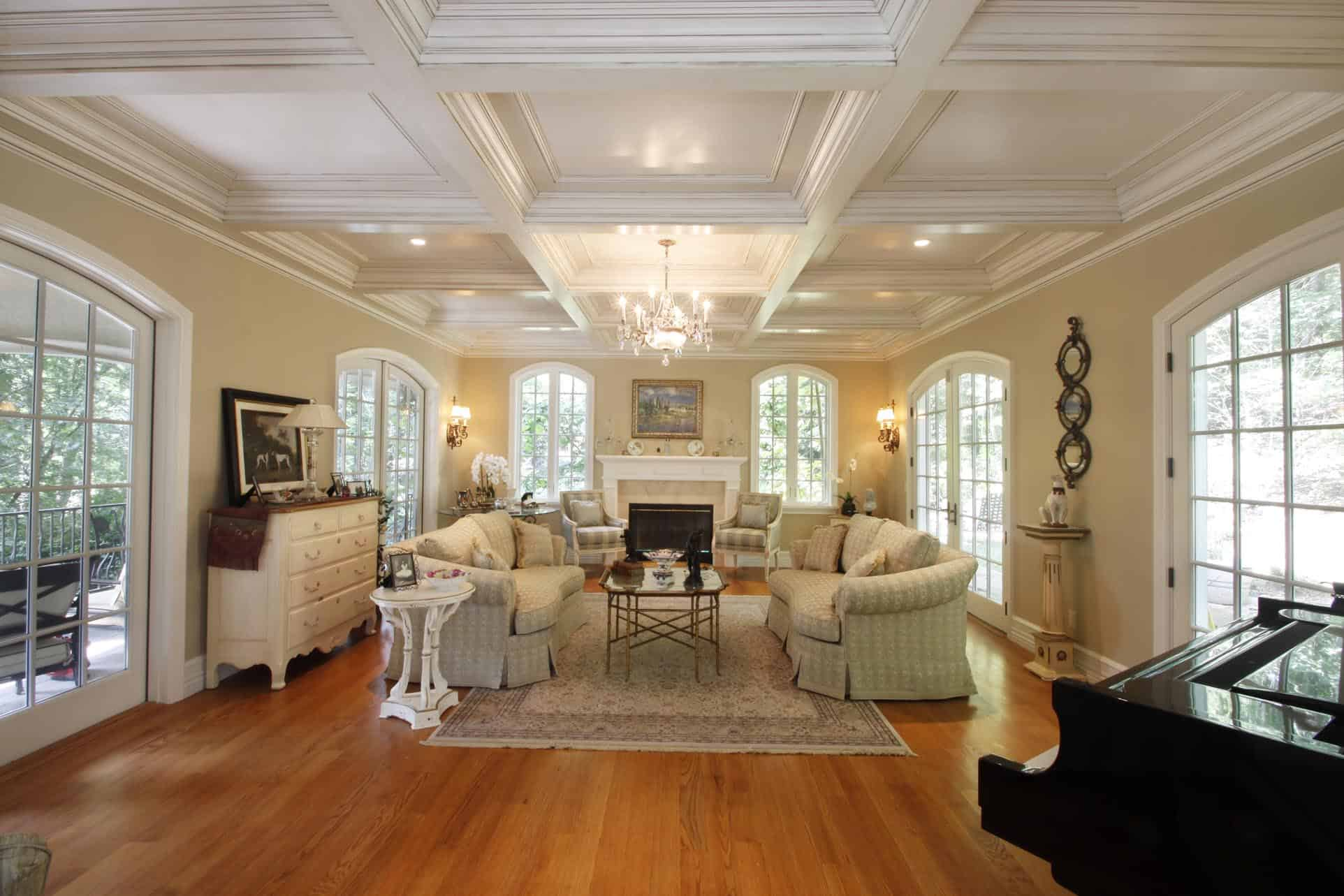 coffered ceiling, coffered ceilings, ceiling treatment, ceiling design,  ceiling panel, faux ...