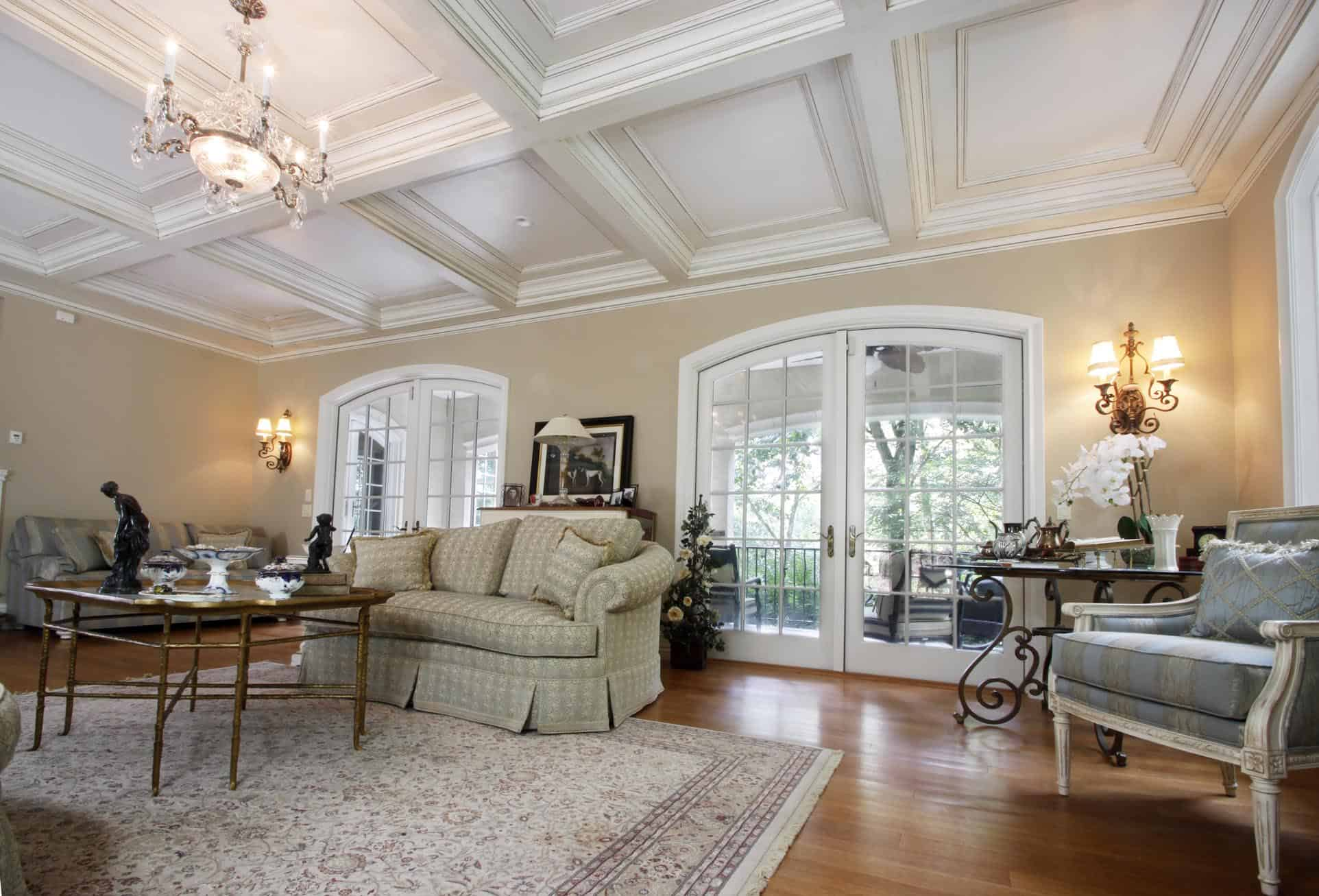 Coffered ceiling design ceiling beams coffer ceiling for Average cost of coffered ceiling