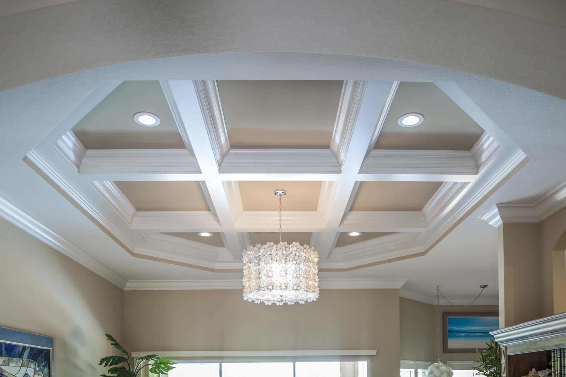 Lovely vaulted ceiling beam ideas images dream home for Coffered ceiling styles