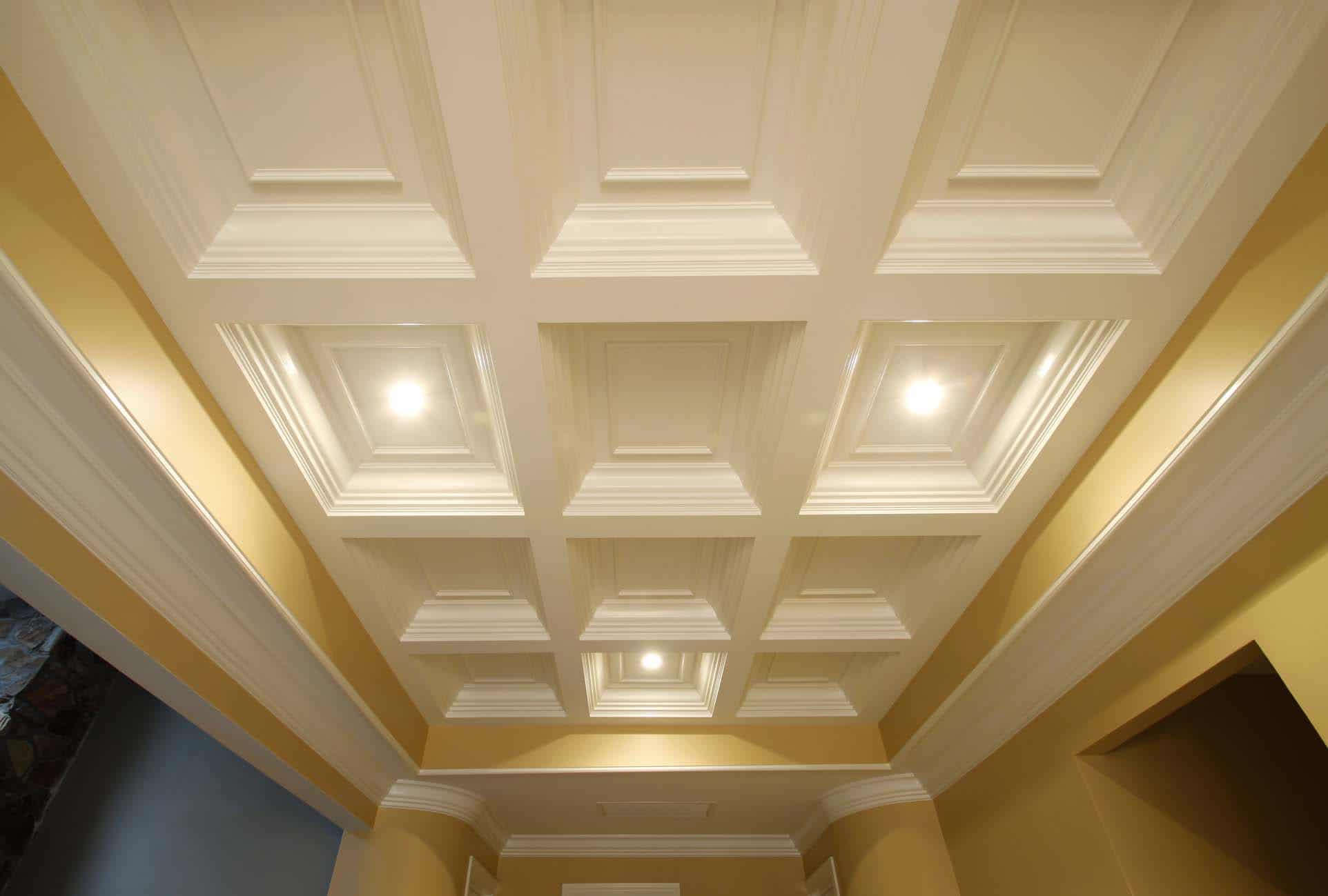 Coffered ceiling systems easy coffered ceiling in a day for Great ceiling ideas