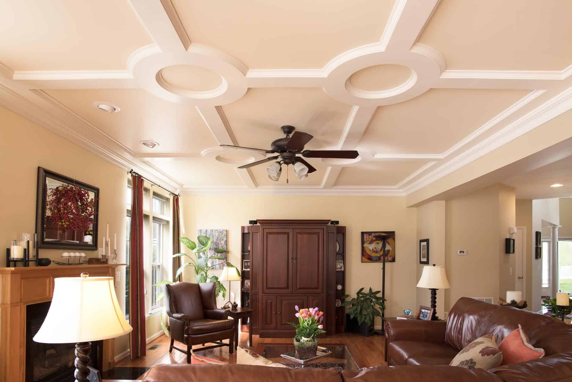 How to build a coffered ceiling -  Coffered Ceiling Coffered Ceilings Ceiling Treatment Ceiling Design Ceiling Panel Faux