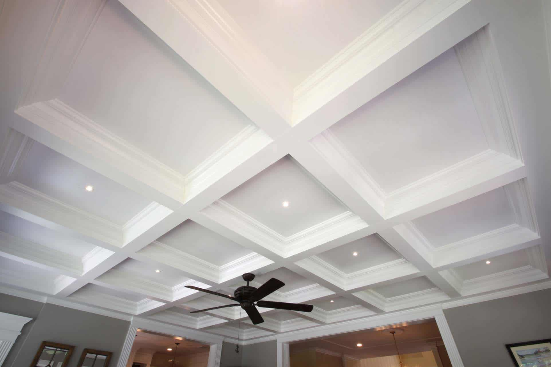 Coffered ceiling systems easy coffered ceiling in a day for Coffered ceiling styles