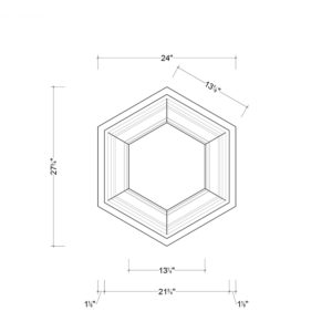Coffered Ceiling Tile DMT-HEX-24X24