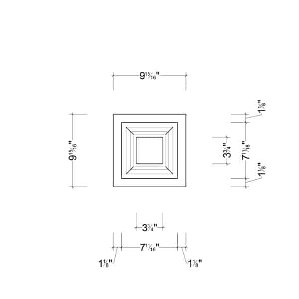 Coffered Ceiling Tile DMT-SQR-10X10