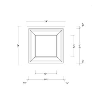 Coffered Ceiling Tile DMT-SQR-24X24