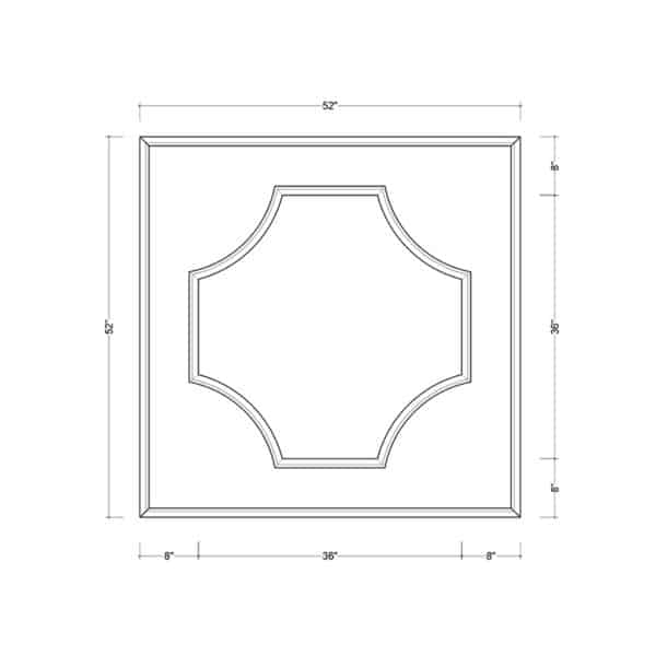 coffered ceiling medallion kit MED-52-CIR-1 | ceiling system | ceiling tile | faux beams