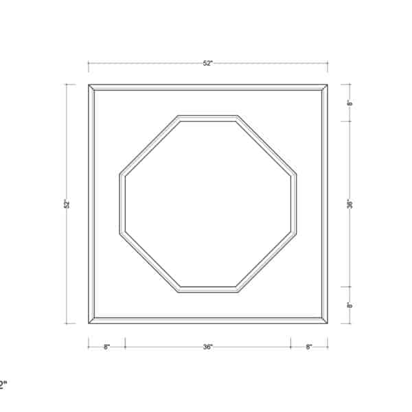 coffered ceiling medallion kit MED-52-DIA-1 | ceiling system | ceiling tile | faux beams
