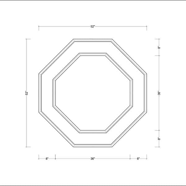coffered ceiling medallion kit MED-52-DIA-2 | ceiling system | ceiling tile | faux beams