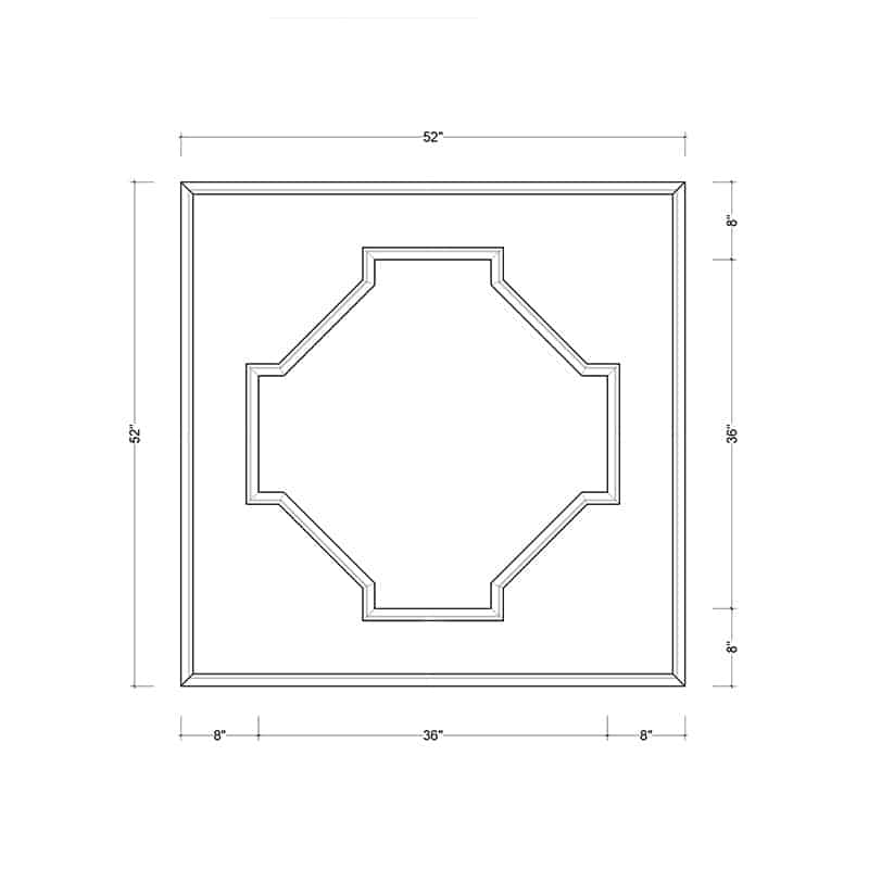 coffered ceiling medallion kit MED-52-OCT-1 | ceiling system | ceiling tile | faux beams