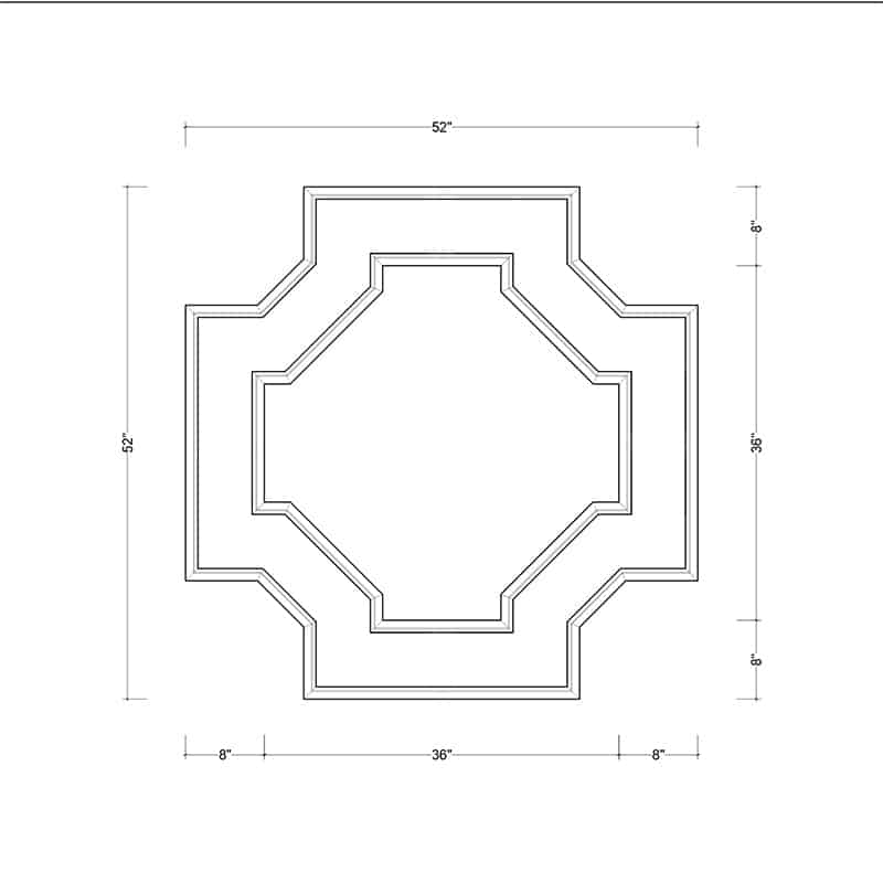 coffered ceiling medallion kit MED-52-OCT-2 | ceiling system | ceiling tile | faux beams