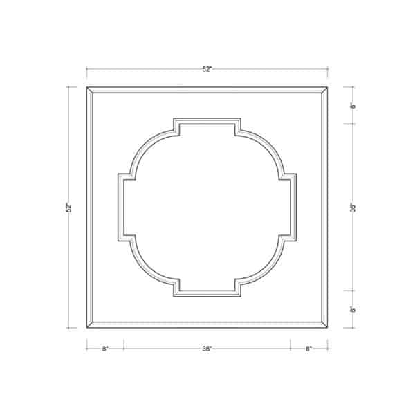 coffered ceiling medallion kit MED-52-SCA-1 | ceiling system | ceiling tile | faux beams