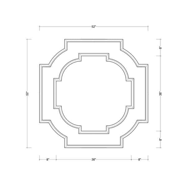 coffered ceiling medallion kit MED-52-SCA-2 | ceiling system | ceiling tile | faux beams