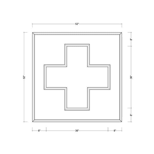 coffered ceiling medallion kit MED-52-SQR-1 | ceiling system | ceiling tile | faux beams