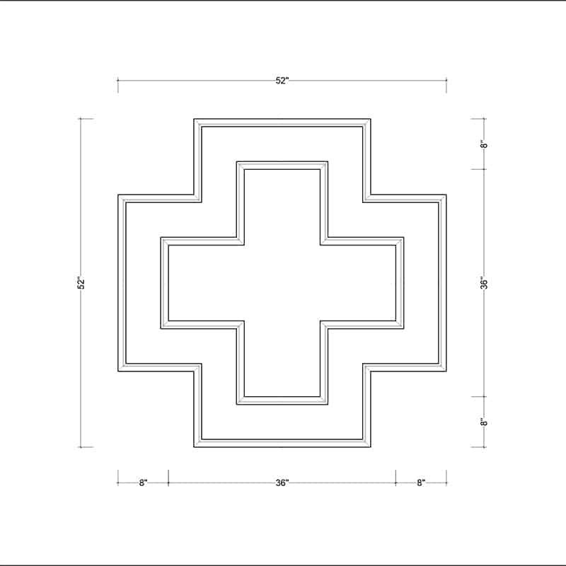 coffered ceiling medallion kit MED-52-SQR-2 | ceiling system | ceiling tile | faux beams