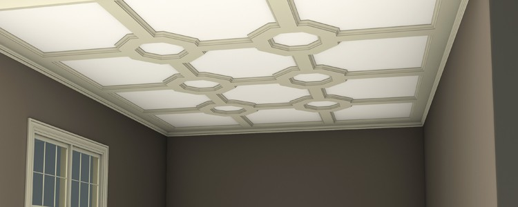 Shallow-Beam Coffered Ceiling - Octagons