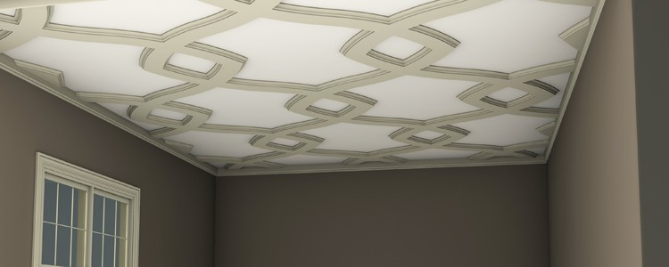 what is coffered ceiling