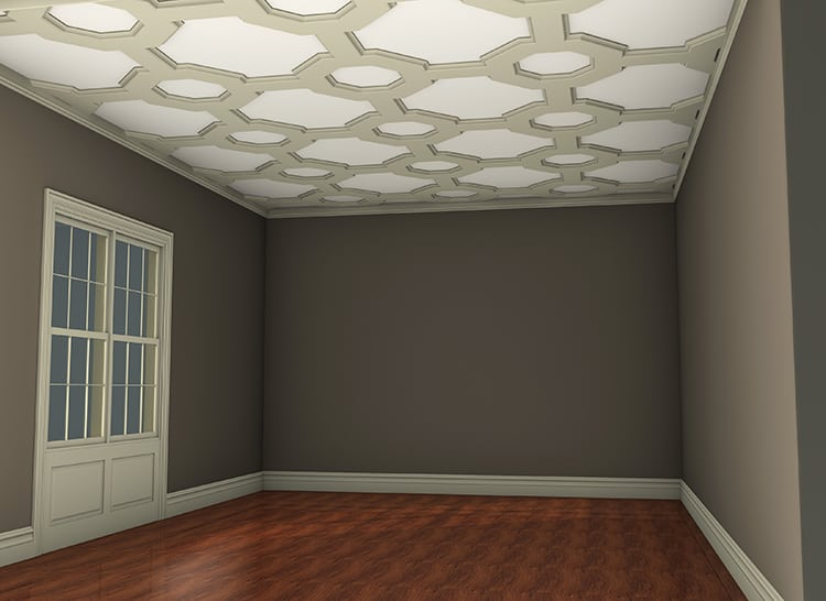 coffered ceiling system kit | decorative faux wood ceiling beams | ceiling tile panels | ceiling molding
