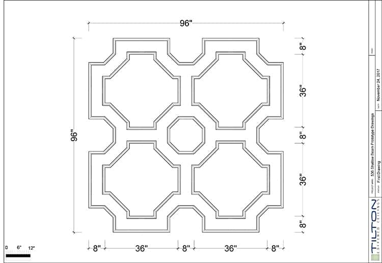 """Do It Yourself Home Design: 92"""" Coffered Ceiling Kit #OCT-4"""
