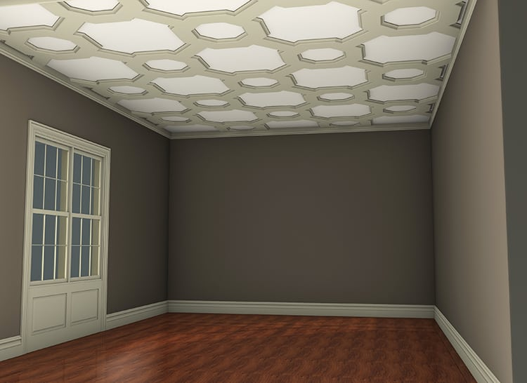 Coffered Ceiling Tile Pattern Kit Modular Faux Ceiling