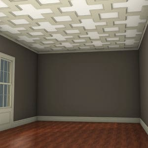 coffered ceiling tiles kit | decorative faux ceiling beams