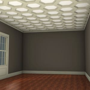 coffered ceiling tiles kit | faux ceiling beams