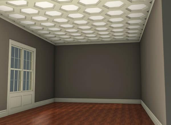 coffered ceiling tiles kit   faux ceiling beams