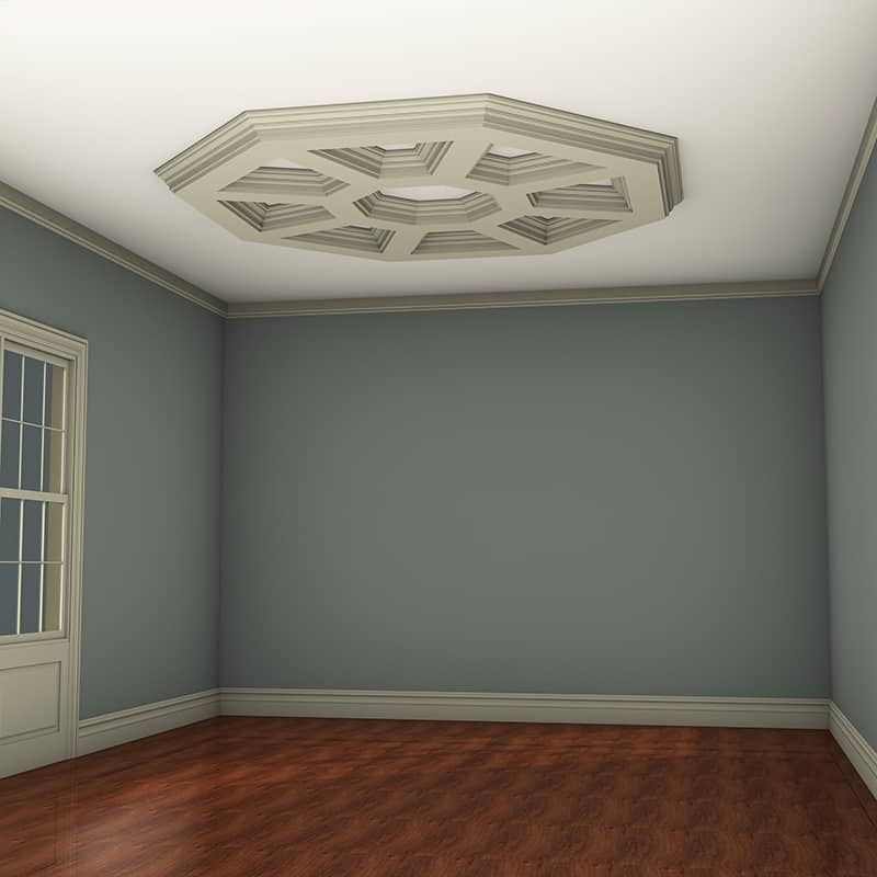 Box Beam Coffered Ceiling System - Pre-Sized Octagon