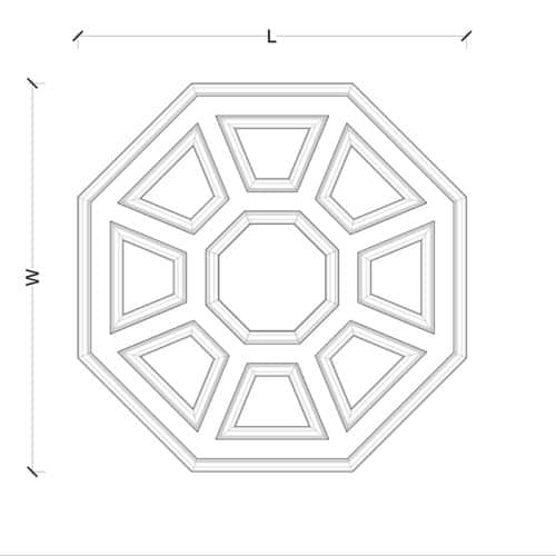 Box Beam Coffered Ceiling System - Pre-Sized Octagon Plan