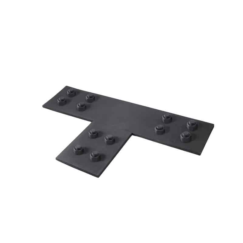 Faux Wood Ceiling Beam Tee Plates 3 (Nuts)