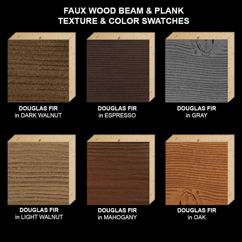 Faux Wood Ceiling Beam Texture & Color Sample Kit STAINED DF
