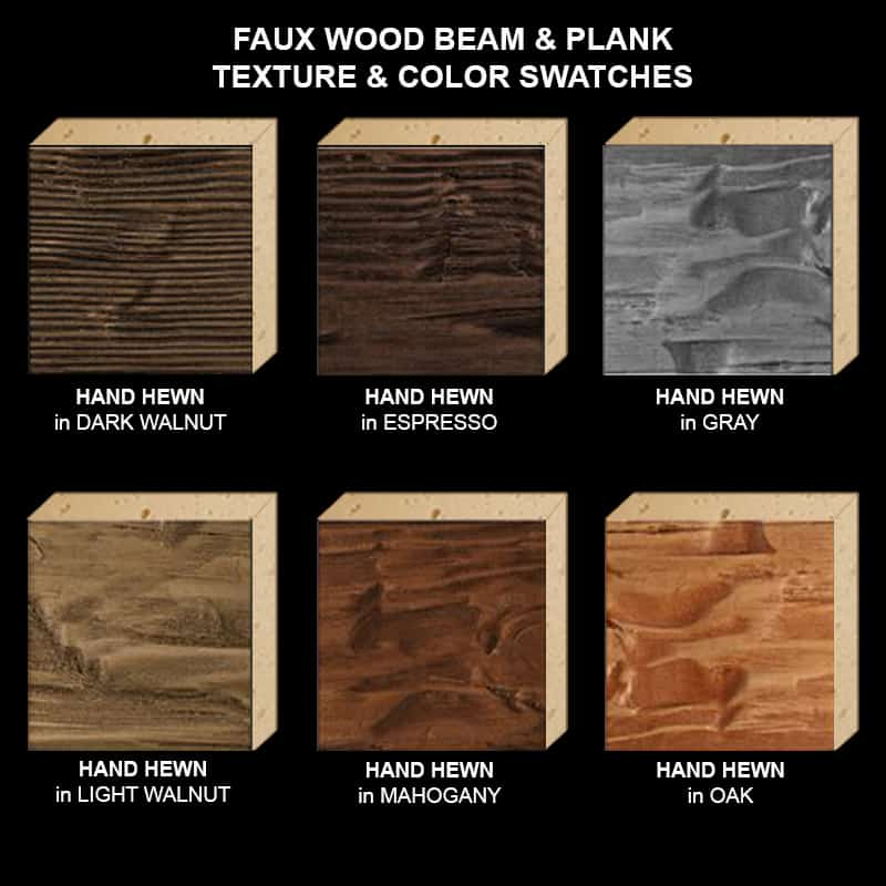 Faux Wood Ceiling Beam Texture & Color Sample Kit STAINED HH