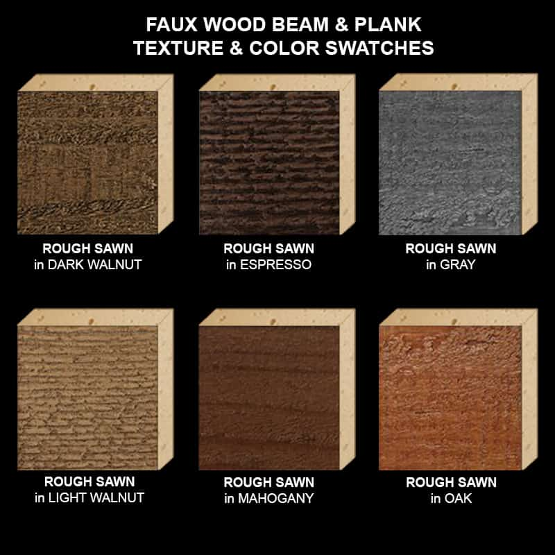 Faux Wood Ceiling Beam Texture & Color Sample Kit STAINED RS