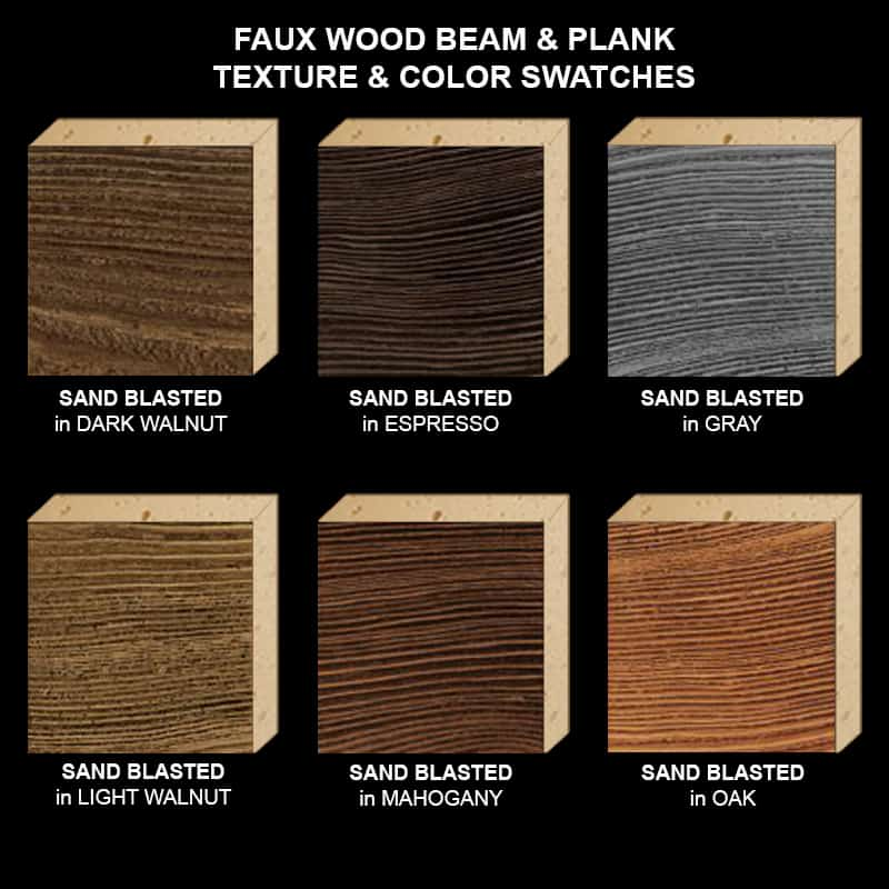 Faux Wood Ceiling Beam Texture & Color Sample Kit STAINED SB