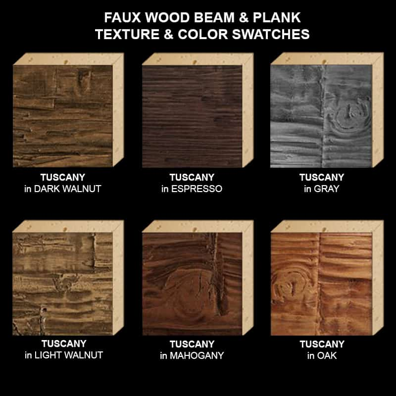 Faux Wood Ceiling Beam Texture & Color Sample Kit STAINED TU