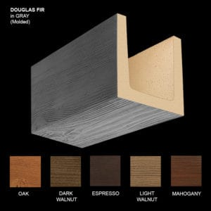 Faux Wood Ceiling Beam Sample - Douglas Fir - Gray - Molded
