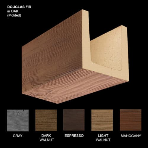 Faux Wood Ceiling Beam Sample - Douglas Fir - Oak - Molded