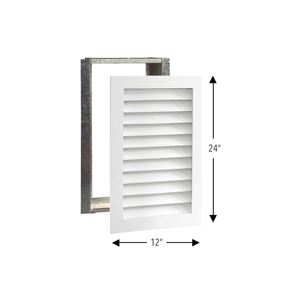 Wood A/C Return Grille 12x24 Primed