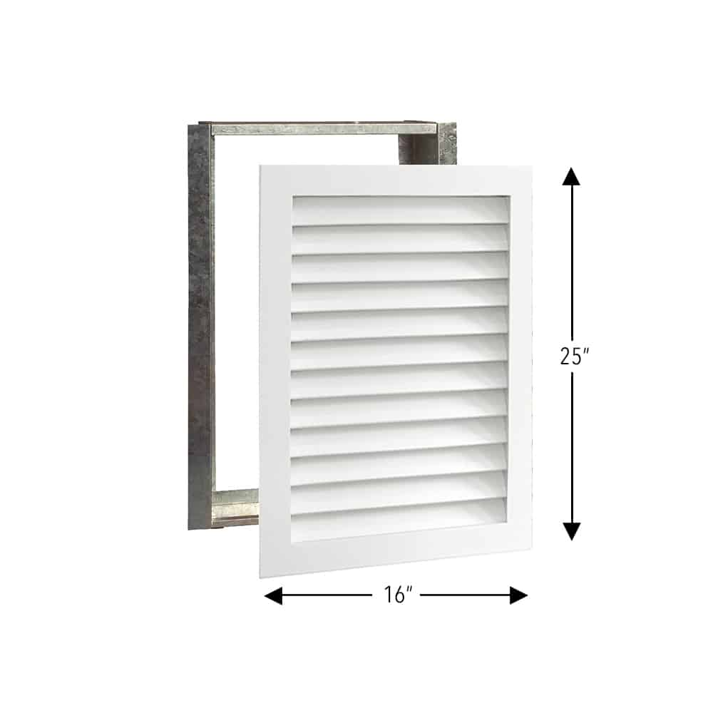 Wood A/C Return Grille 16x25 Primed