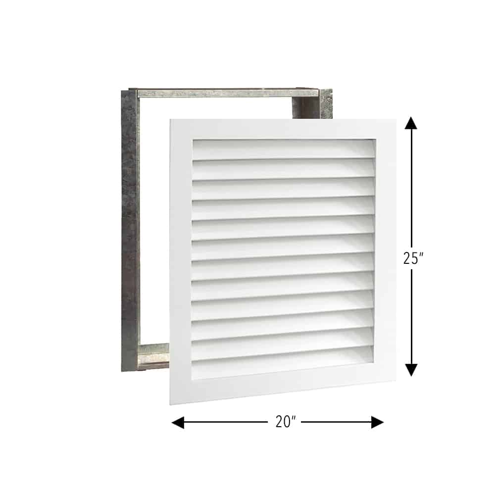 Wood A/C Return Grille 20x25 Primed