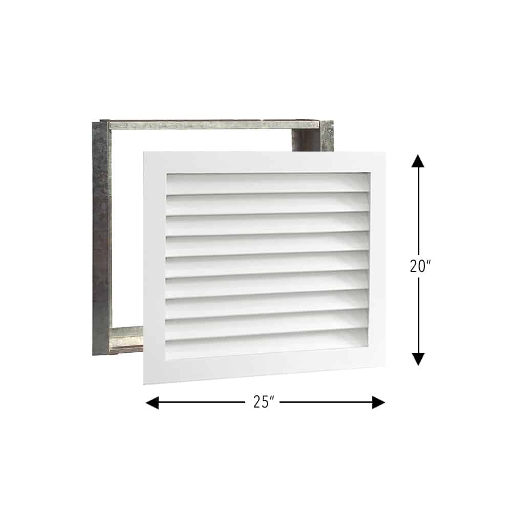 Wood A/C Return Grille 25x20 Primed