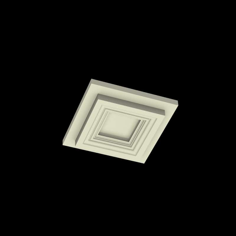 Coffered Ceiling Tile DMT-SQR-10X10 (3) | ceiling system | ceiling tile | faux beams