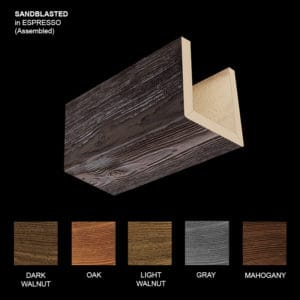 Faux Wood Ceiling Beams - Assembled Series - Sandblasted - Espresso