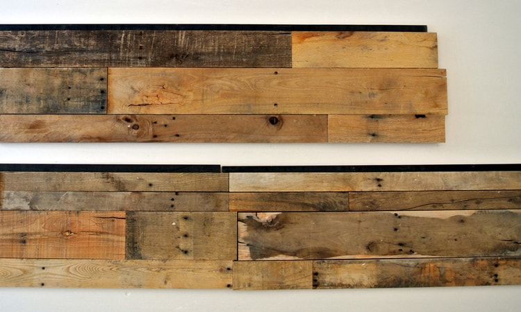 Wood Ceiling & Wall Planks - PreFab Pallet Wood Panel - Interlocking (3)
