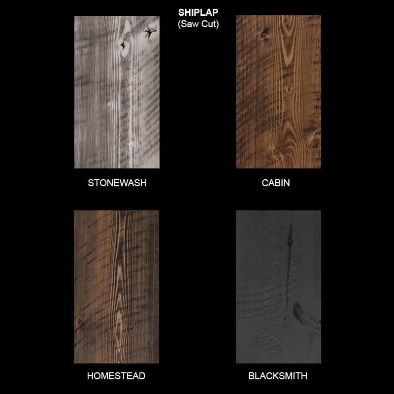 Shiplap Wood Ceiling & Wall Planks - Saw Cut Sample
