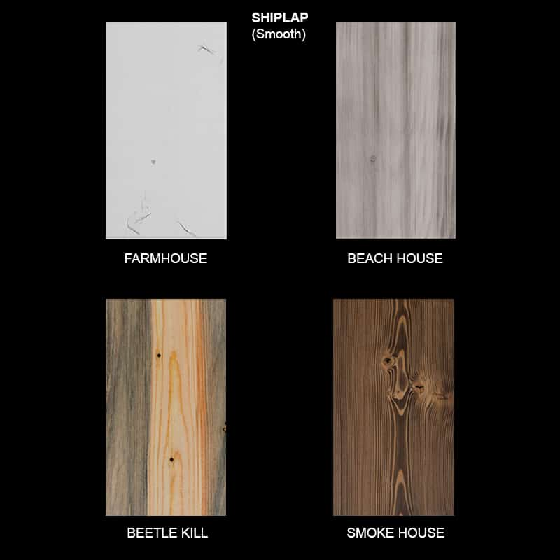 Shiplap Wood Ceiling & Wall Planks - Smooth Sample
