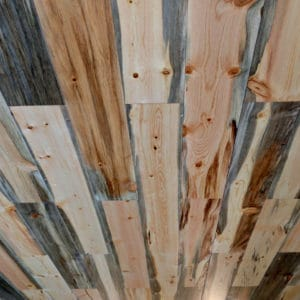 Wood Ceiling & Wall Planks - T&G Shiplap - Smooth - Beetle Kill Pine - Installed (1)
