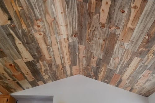 Wood Ceiling & Wall Planks - T&G Shiplap - Smooth - Beetle Kill Pine - Installed (2)